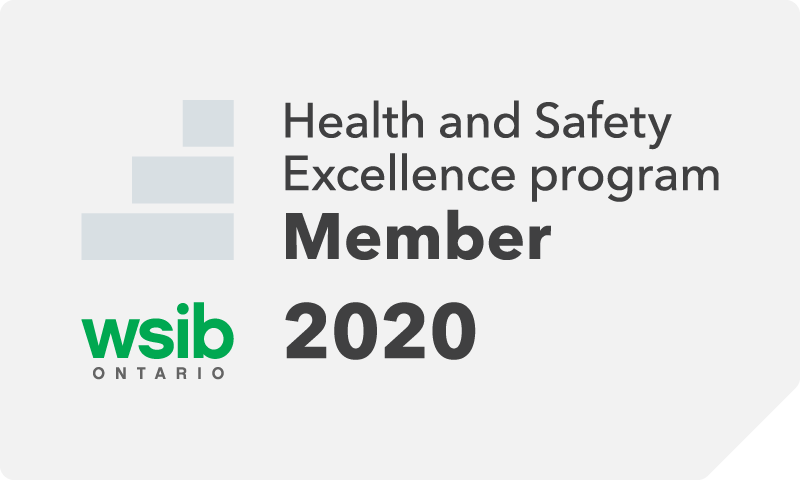 WSIB Ontario Health and Safety Excellence Program 2020